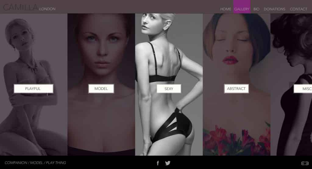 London escort web design